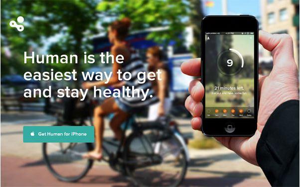 human app landing page