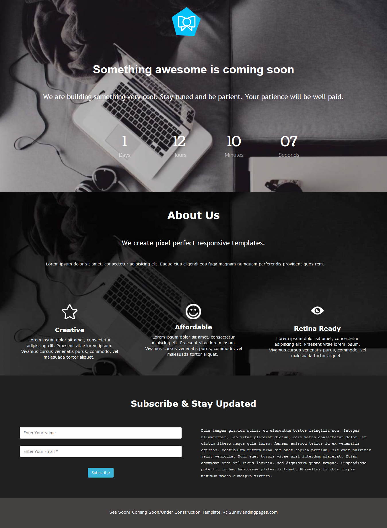 Free Landing Page with a Countdown Timer - Blog | Sunny Landing ...