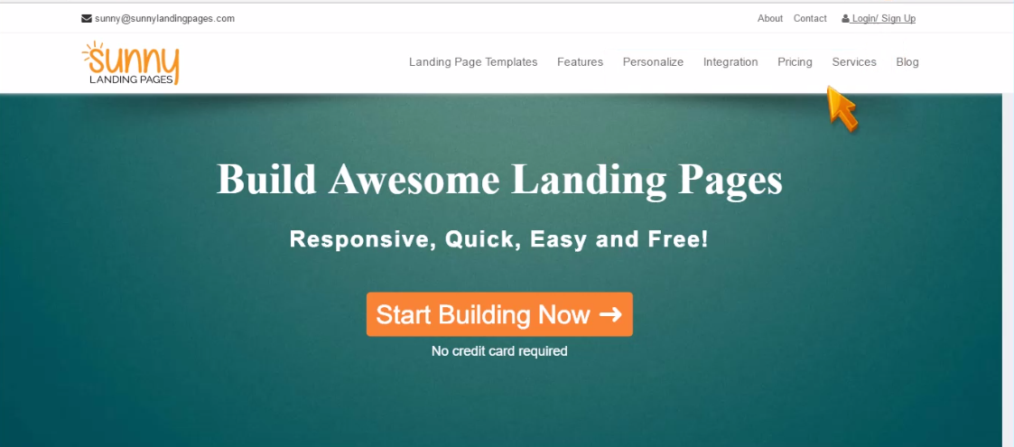 Sunny Landing Pages login