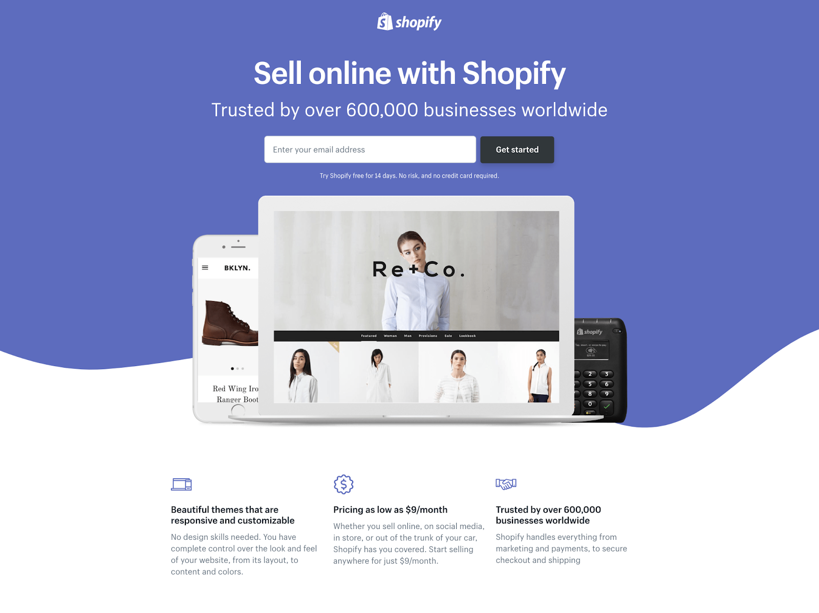 shopify screen
