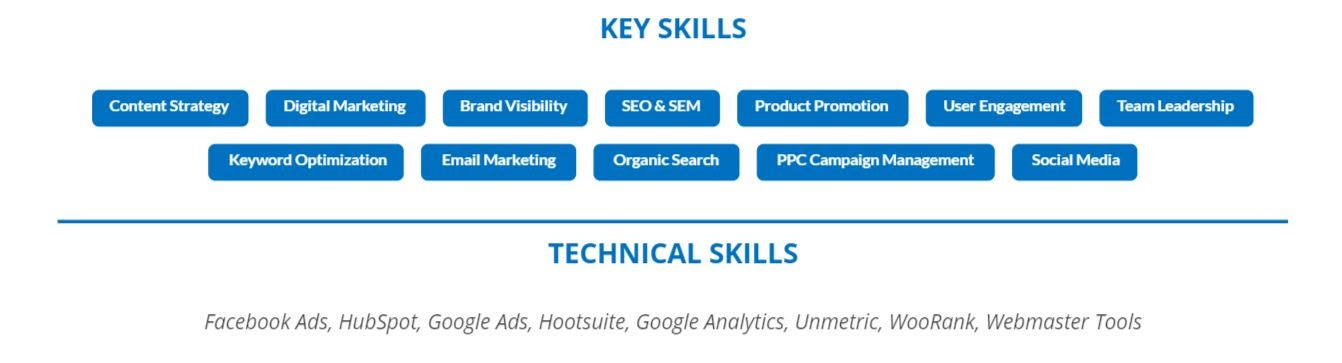 digital-marketing-resume-key-skills