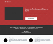 My Show HTML Template