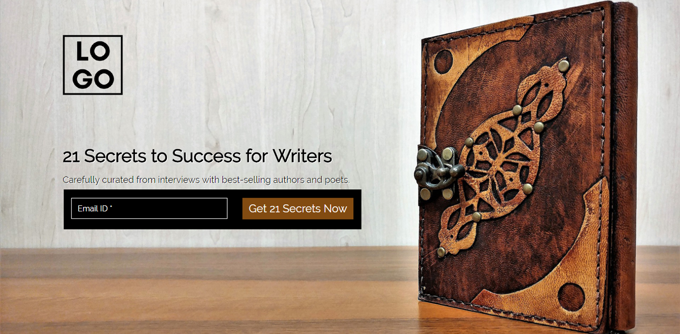 21 Secrets for Writers Wordpress Landing Page Template