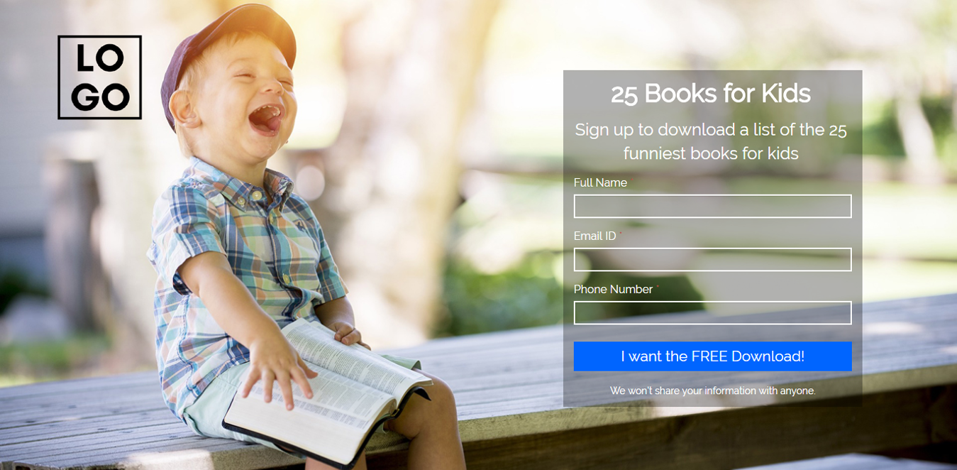 Books for Kids Wordpress Landing Page Template