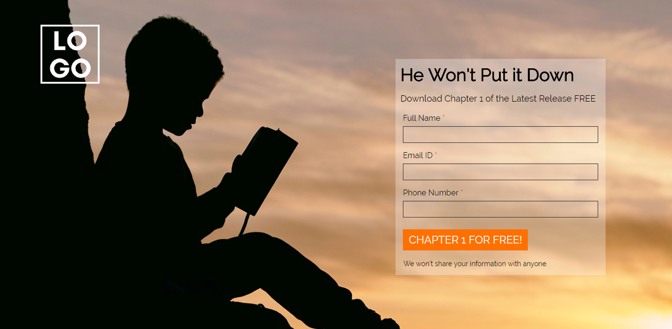Children Book Launch Wordpress Landing Page Template