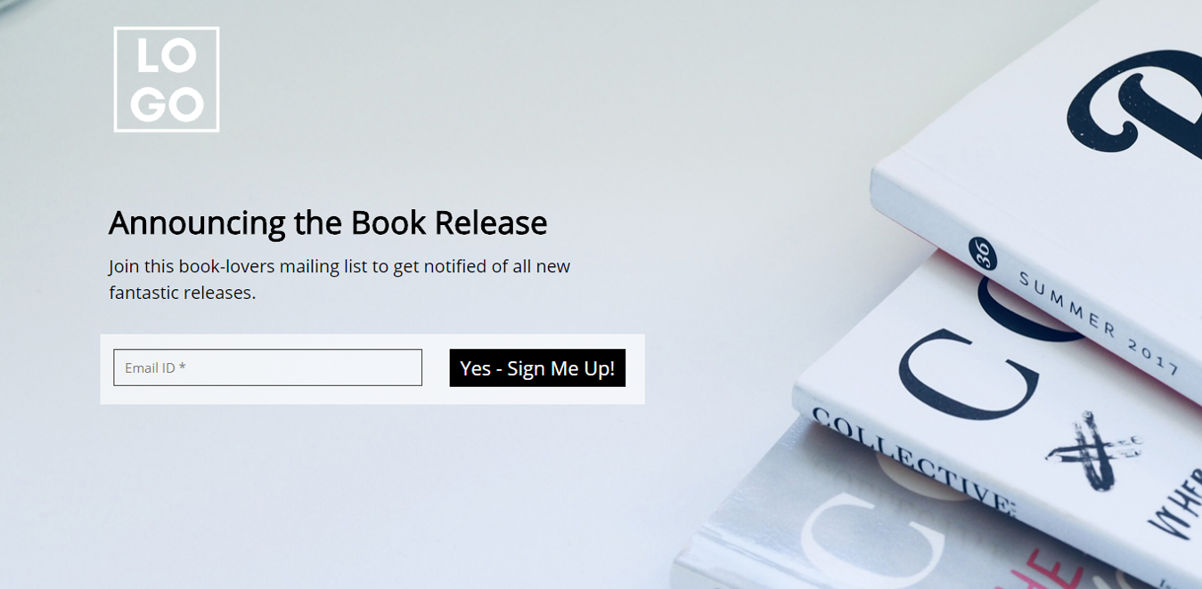 New Book Release Wordpress Landing Page Template
