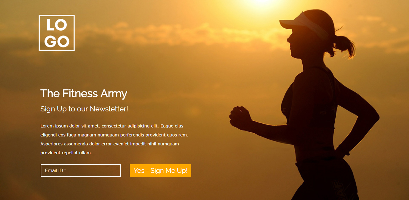 The Fitness Army Wordpress Landing Page Template
