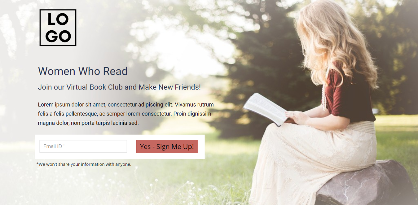 Women Who Read Wordpress Landing Page Template